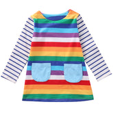 Where's Rainbow Waldo Striped Dress