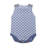 Blue Vivid Fish Scales Wool Knit Romper - Kids Petite - Baby & Kids Clothing