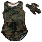 Camo Survival Girl Baby Romper Set