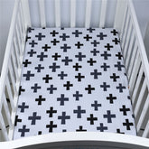 Polka Crosses Baby Bed Sheet