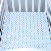 Wavy Blue Hendrick Baby Bed Sheet