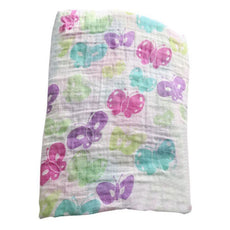 Vivid Butterflies Swaddle Blanket
