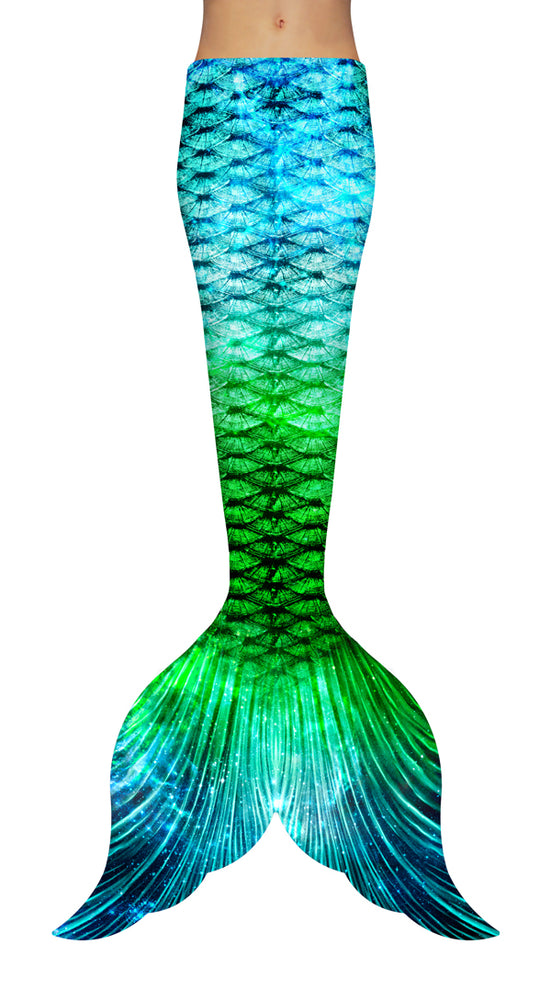 Green Galaxy Mermaid Tail