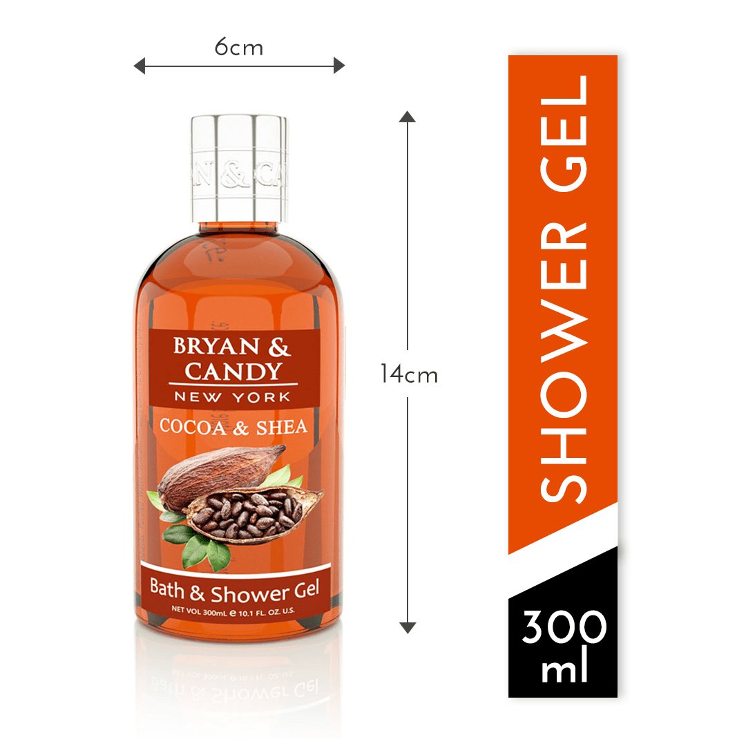 Cocoa Shea bath & Shower Gel measurement