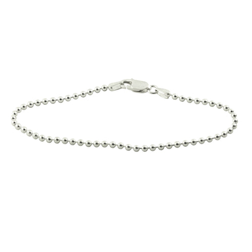 Sterling Silver Small Bead Bracelet