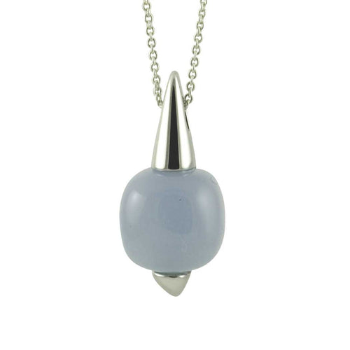 Blue Chalcedony Pendant Necklace