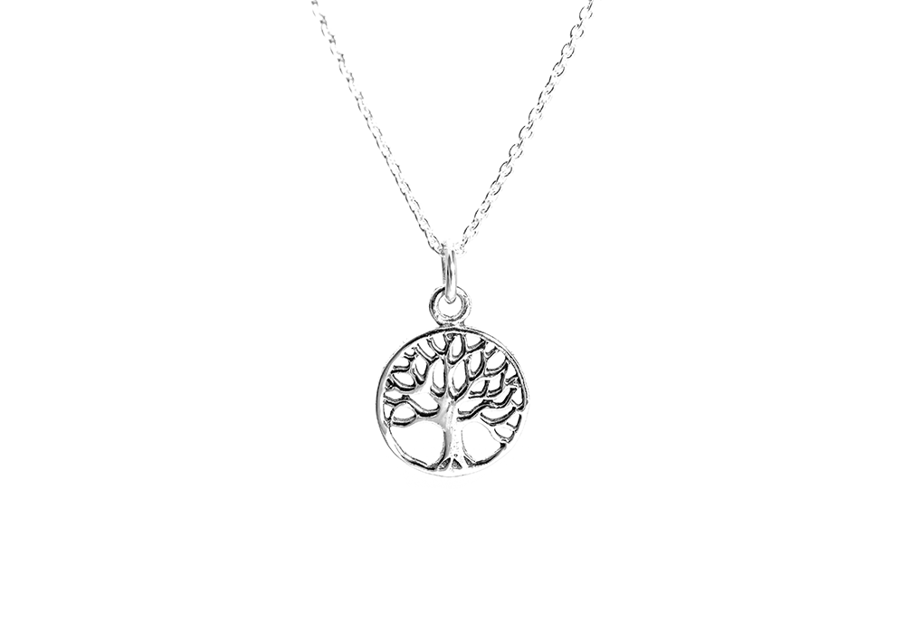 Sterling Silver Mini Tree Of Life Pendant Necklace