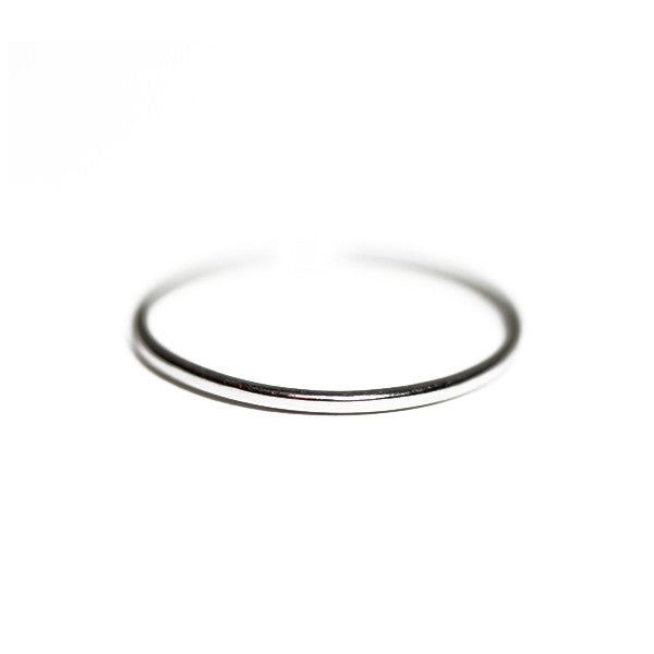 14kt White Gold Thin Band Ring 1mm