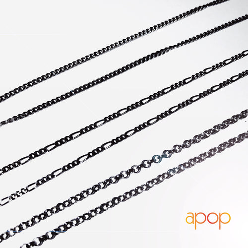 925 Silver Choker Necklace // Blackened & Gold-Dipped