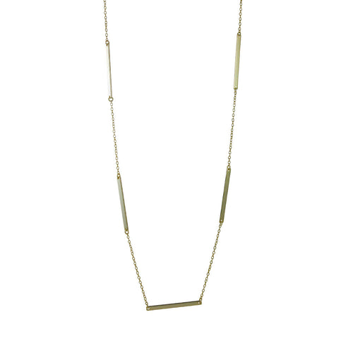 Gold-Dipped Bar Link Layering Necklace