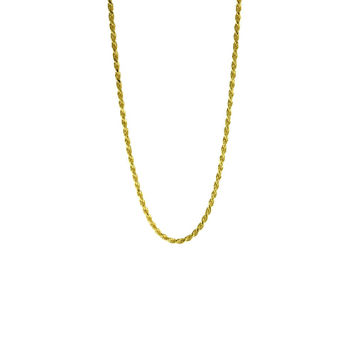 Gold-Dipped Rope Style Choker Chain Necklace