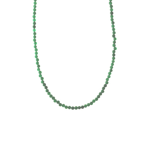 Ever Green Stone Beaded Necklace