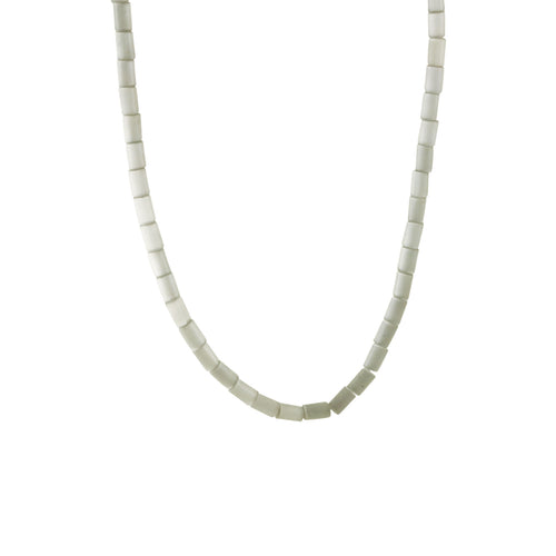 Silver Cats Eye Stone Beaded Necklace