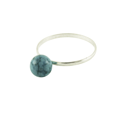 Sterling Silver Turquoise Stone Ring Stackable