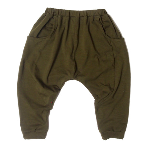 Sarouel pants olive grn jersey
