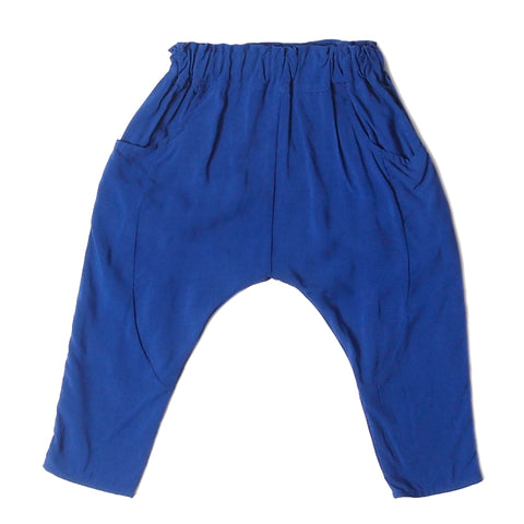 sarouel pants royal blue rayon