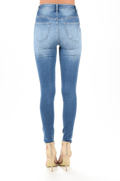 Monroe High Waisted Destroyed Stretch Jeans - Soul Of The Rose®