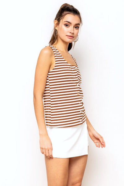 Pippa Stripe Tank Top - Soul Of The Rose®