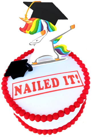 Unicorn Graduation Cake