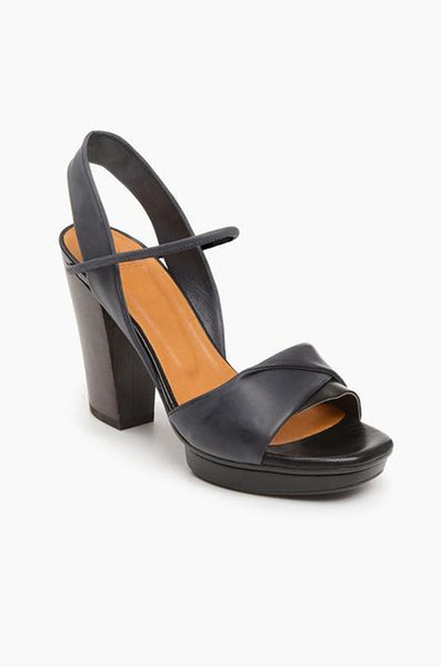 Uhoh Heel - Black & Coal Leather