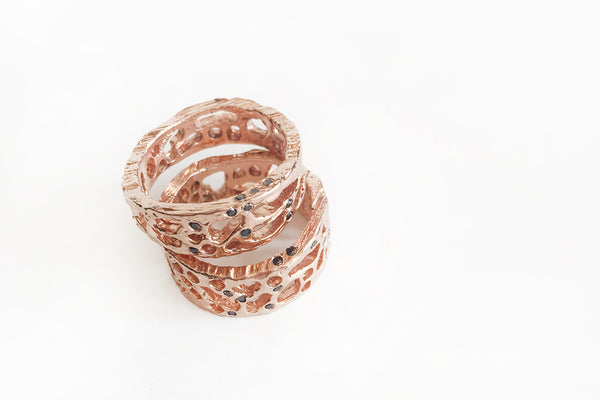 ROSE GOLD AND BLACK DIAMONDS RING