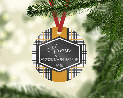 Preppy Plaid Ornament (CO1033)