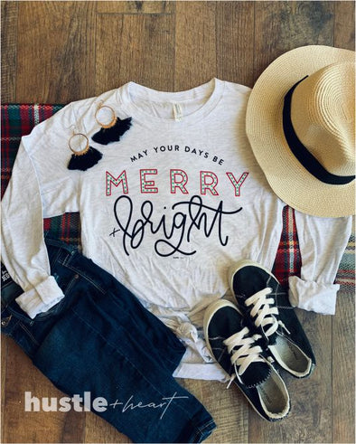 Merry and Bright Long Sleeve Tee