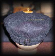 Load image into Gallery viewer, Wayfarer Cap - Navy Herringbone - Cashmere - reduced from £85