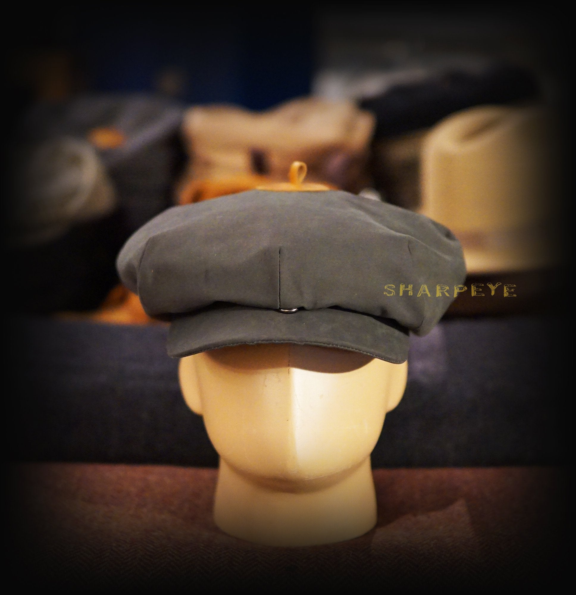 Wayfarer Cap - Slate Waterproof Bonded Cotton - reduced from £80