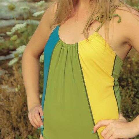The Woods Bather in Blue/Green/Yellow