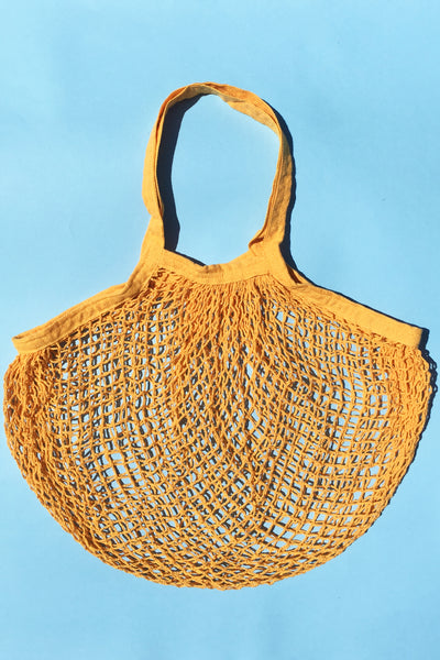 Crochet Tote in Sunflower Yellow