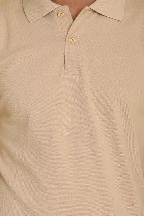 Charentias Beige Melon Pique Men's Polo Tshirt