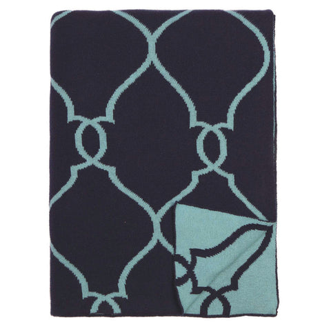 Bedroom inspiration and bedding decor | The Blue Lattice Reversible Patterned Throw | Crane and Canopy