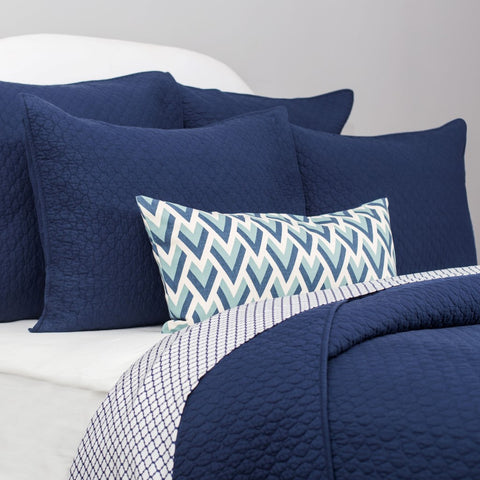 Bedroom inspiration and bedding decor | The Cloud Navy Blue Quilt & Sham | Crane and Canopy