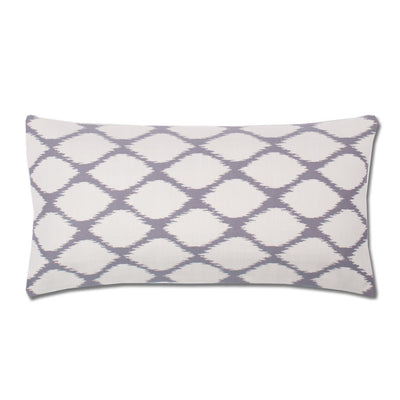 Grey and White Raindrop Throw Pillow
