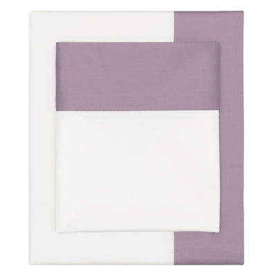 Bedroom inspiration and bedding decor | The Lilac Purple Border Sheet Sets | Crane and Canopy