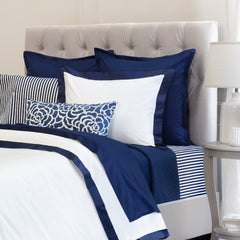 The Linden Navy Blue Border