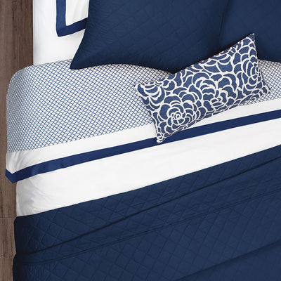 Bedroom inspiration and bedding decor | The Navy Peony Throw Pillows | Crane and Canopy