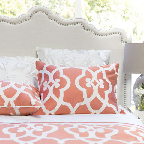 Bedroom inspiration and bedding decor | The Pacific Coral | Crane and Canopy