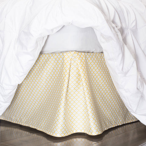 Bedroom inspiration and bedding decor | The Yellow Cloud Bed Skirt | Crane and Canopy
