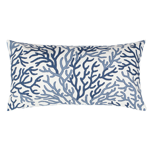 Bedroom inspiration and bedding decor | The Blue and Navy Reef Throw Pillow | Crane and Canopy