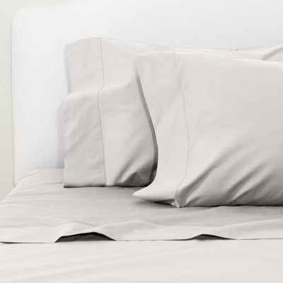 Dove Grey 400 Thread Count Sheet Set 2 (Fitted & Pillow Cases)