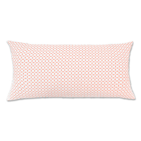 Coral Morning Glory Throw Pillow