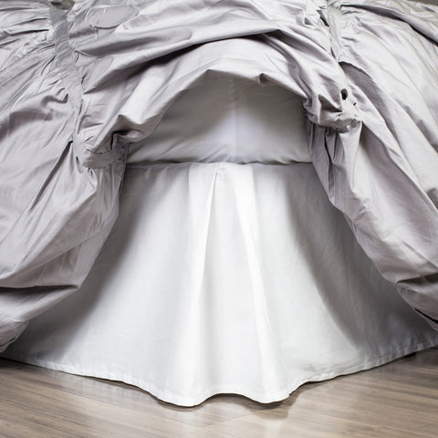 White Pleated Bed Skirt