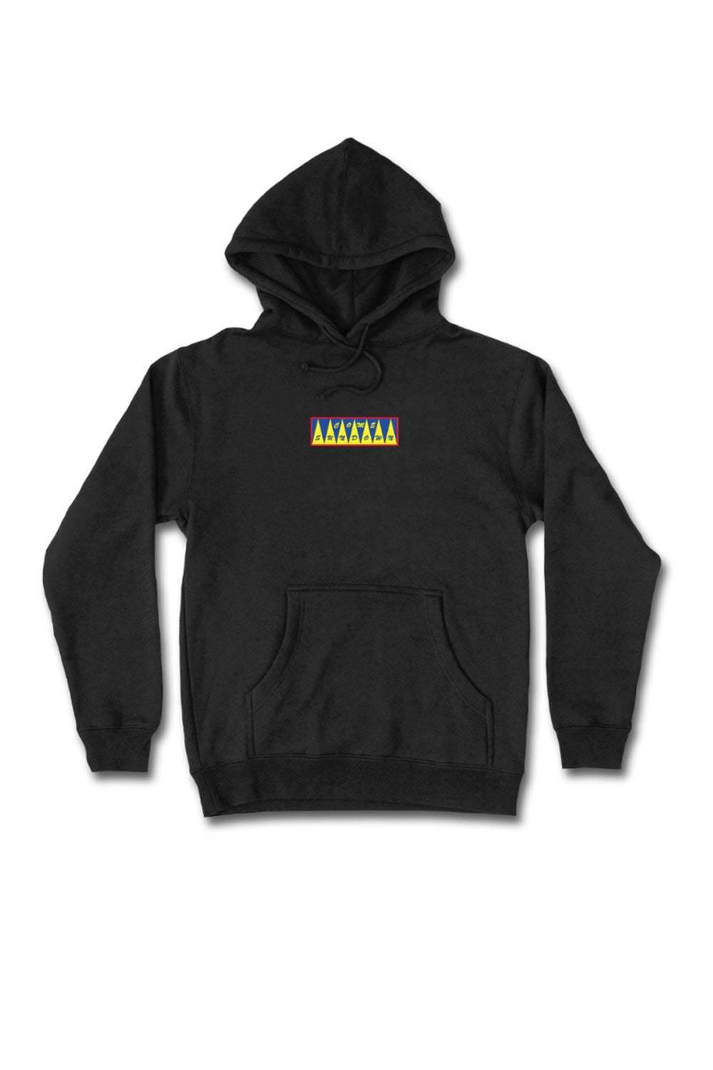 Come Sundown Spikes Embroidered Hoodie - Black