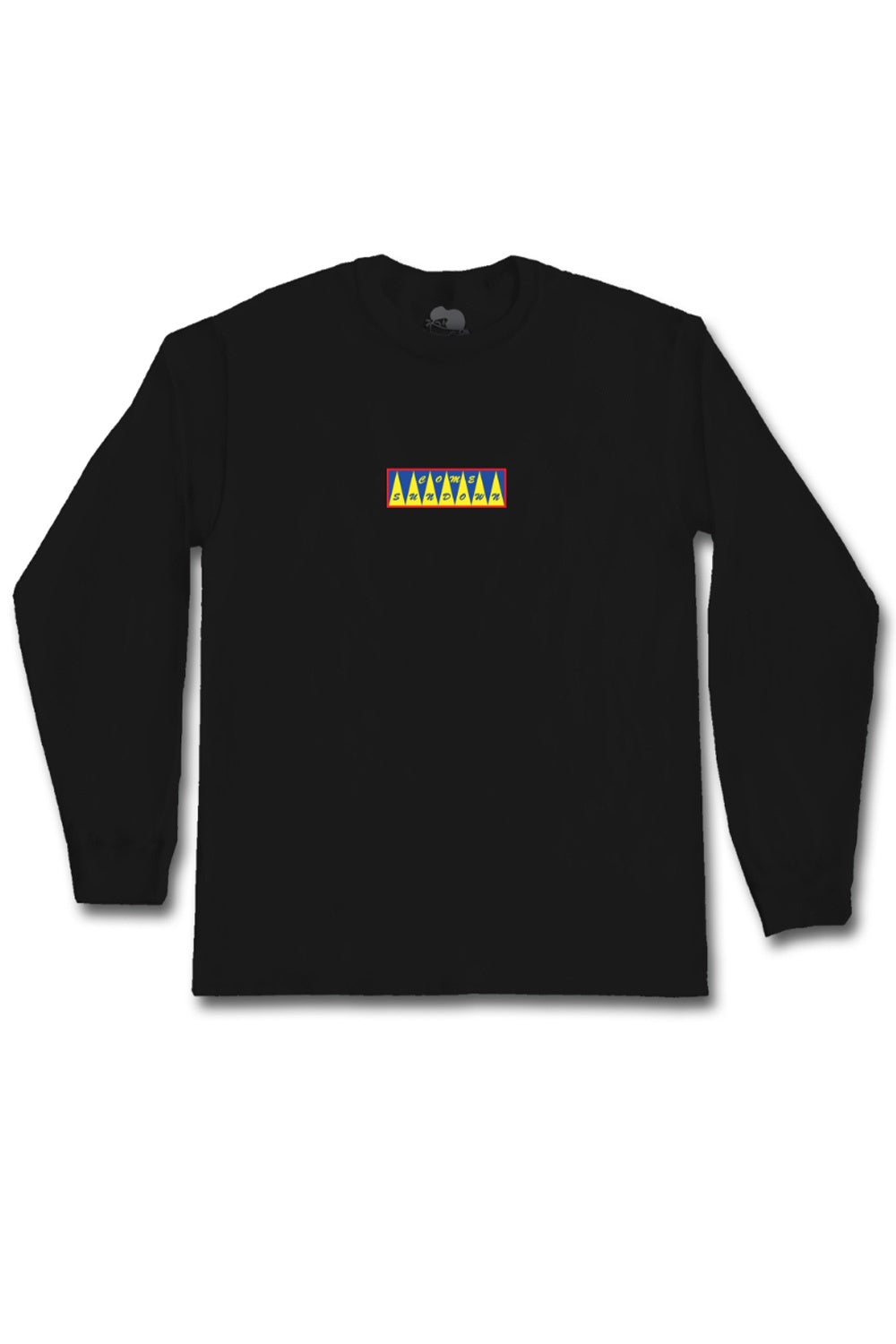 Come Sundown Spikes Embroidered L/S Tee - Black
