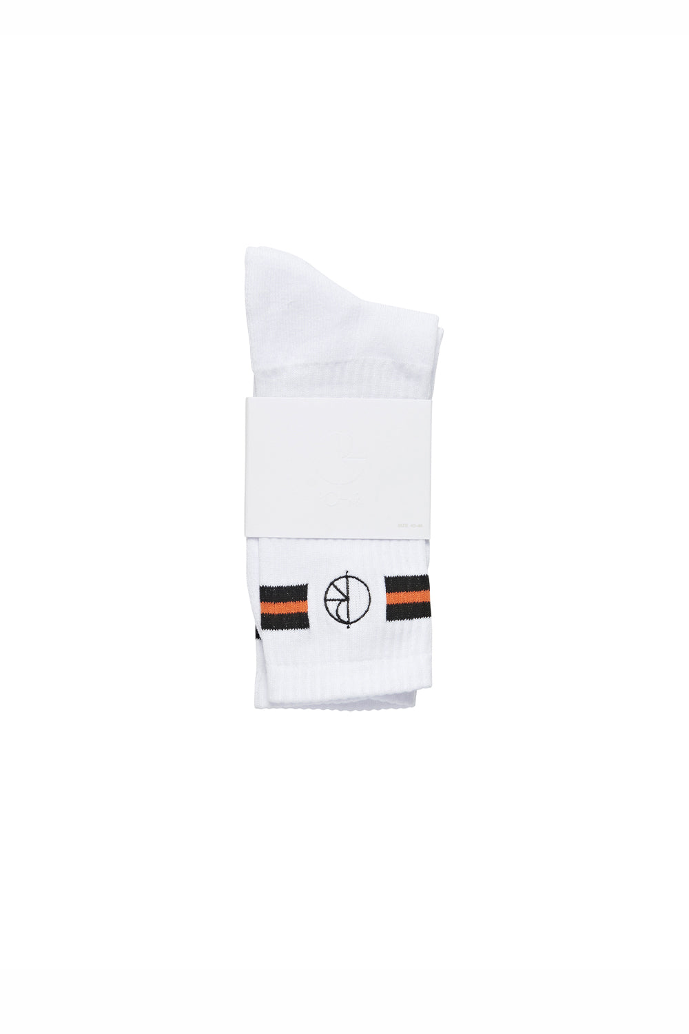 Polar Skate Co Stroke Logo Socks - Black/White/Orange