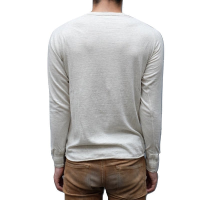 Loop & Weft LRH1024 San Joaquin Cotton L/S Henley (Oatmeal)