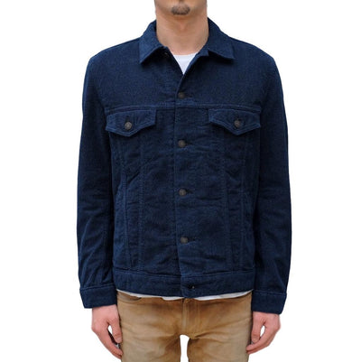 Pure Blue Japan Indigo Dyed Towel Denim Type III Jacket