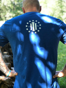 Patriot t-shirt in royal blue